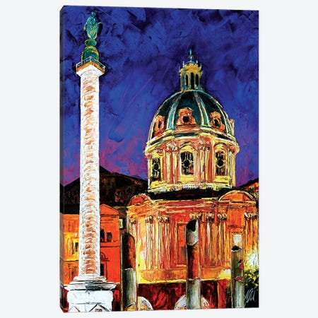Trajan Column Canvas Print #NMY57} by Natasha Mylius Canvas Art