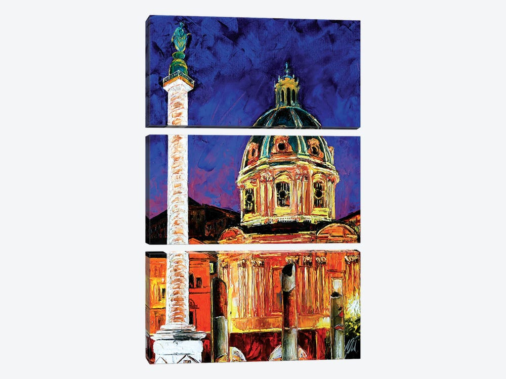 Trajan's Column by Natasha Mylius 3-piece Canvas Print