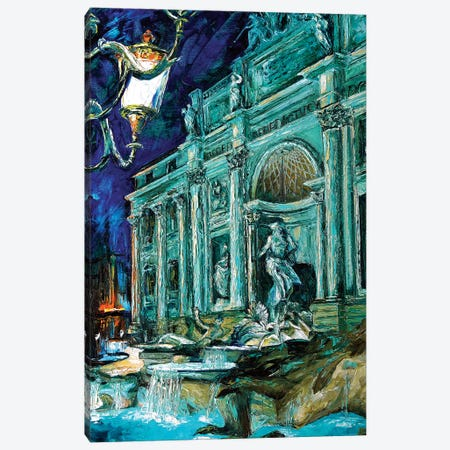 Trevi Fountain Canvas Print #NMY58} by Natasha Mylius Art Print