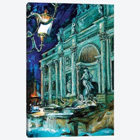 Trevi Fountain Canvas Print #NMY58} by Natasha Mylius Art Print