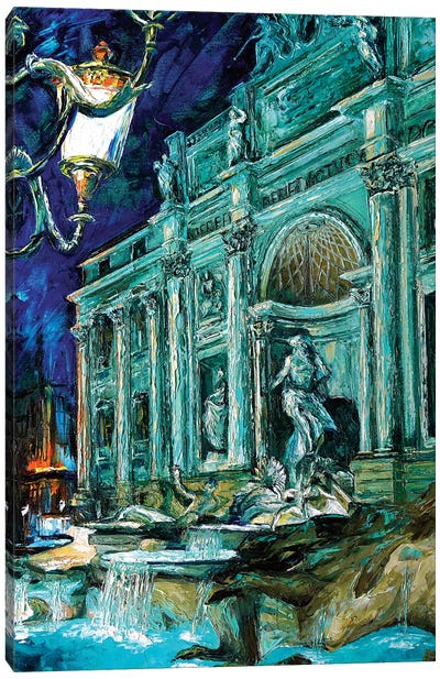 Trevi Fountain Canvas Art Print