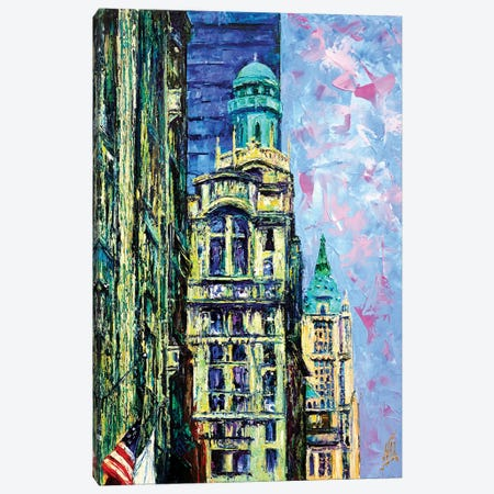 Trinity & Woolworth Buildings Canvas Print #NMY59} by Natasha Mylius Canvas Print