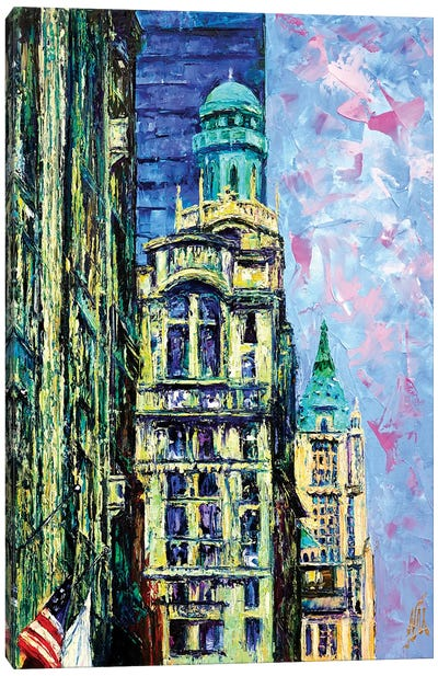 Trinity & Woolworth Buildings Canvas Art Print