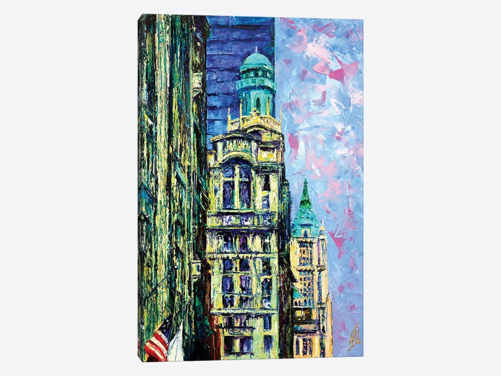 Trinity & Woolworth Buildings 1-piece Canvas Art Print