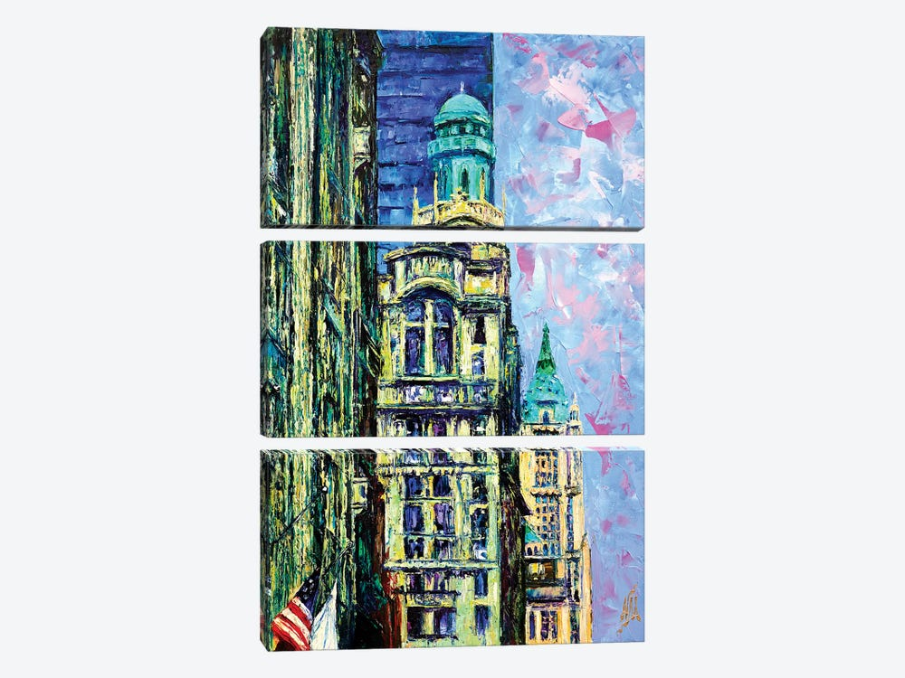 Trinity & Woolworth Buildings 3-piece Canvas Print