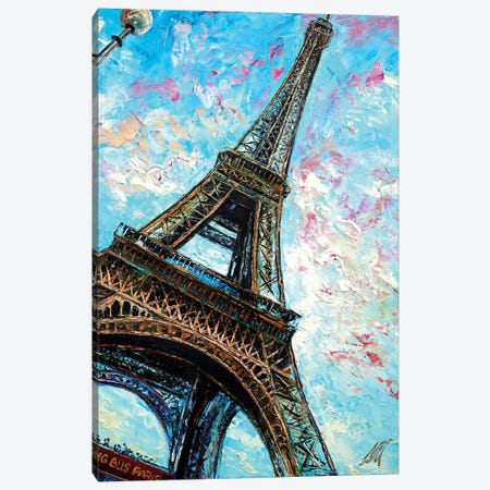 Big Bus Paris Canvas Print #NMY5} by Natasha Mylius Canvas Artwork