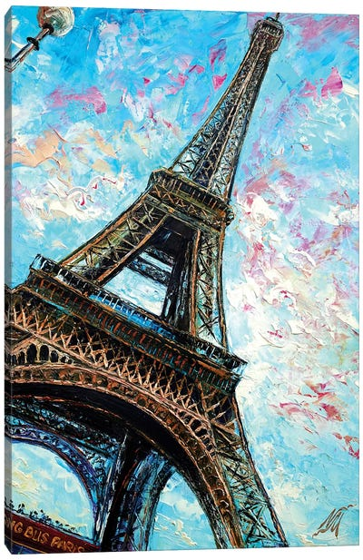 Big Bus View, Paris Canvas Art Print