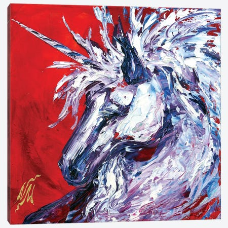 Unicorn Canvas Print #NMY62} by Natasha Mylius Canvas Artwork
