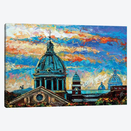 View From Borghese Gardens Canvas Print #NMY63} by Natasha Mylius Canvas Art