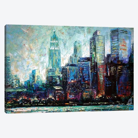 View From Hudson Canvas Print #NMY64} by Natasha Mylius Canvas Art Print