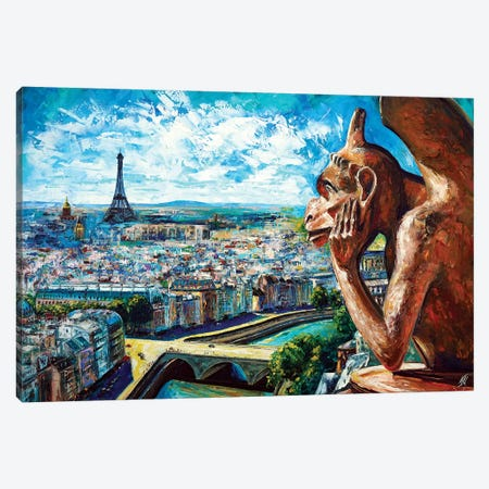 View From Notre Dame Canvas Print #NMY65} by Natasha Mylius Canvas Art Print