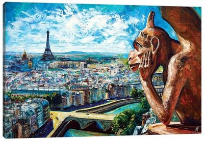 View From Notre Dame Canvas Art Print