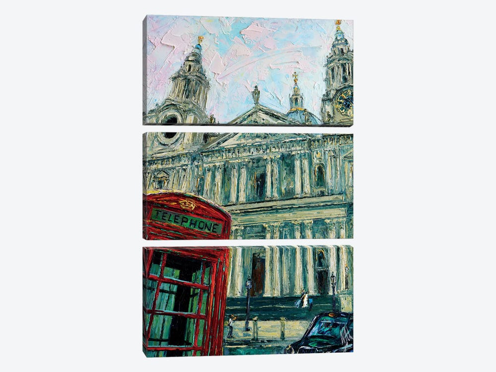 View Of The Saint Pauls by Natasha Mylius 3-piece Canvas Print