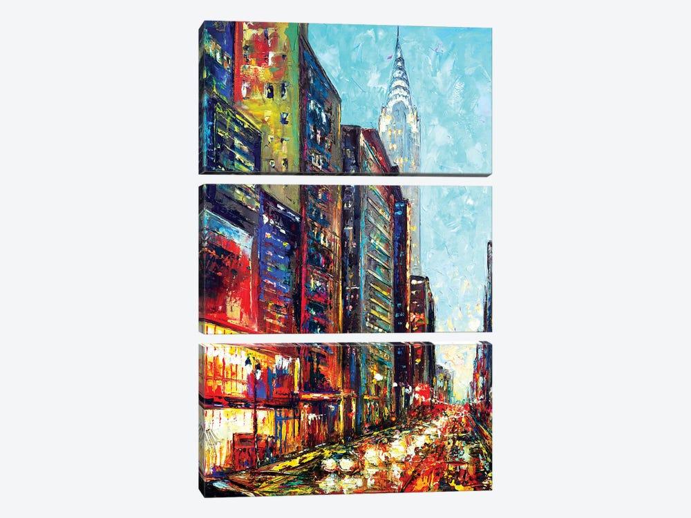 View With Chrysler Bldg by Natasha Mylius 3-piece Canvas Art
