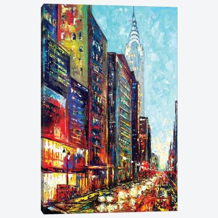 View With Chrysler Bldg Canvas Print #NMY67} by Natasha Mylius Canvas Print