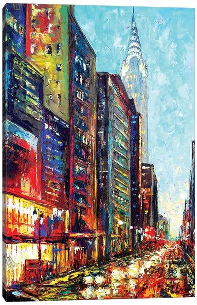 View With Chrysler Bldg Canvas Art Print