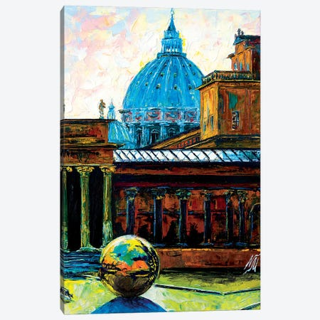 Sphere Within A Sphere At The Pigna Rome Canvas Print #NMY71} by Natasha Mylius Art Print