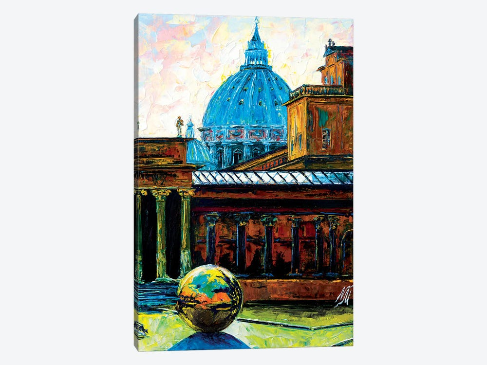 Sphere Within A Sphere At The Pigna Rome by Natasha Mylius 1-piece Canvas Print