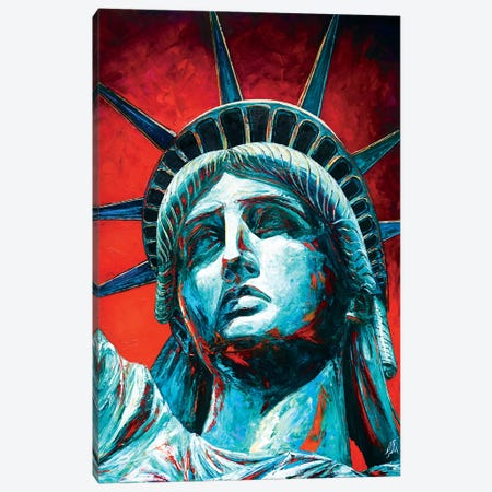 Statue Of Liberty Crown Canvas Print #NMY75} by Natasha Mylius Canvas Artwork