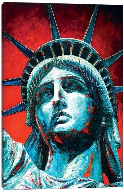 Statue Of Liberty Crown Canvas Art Print