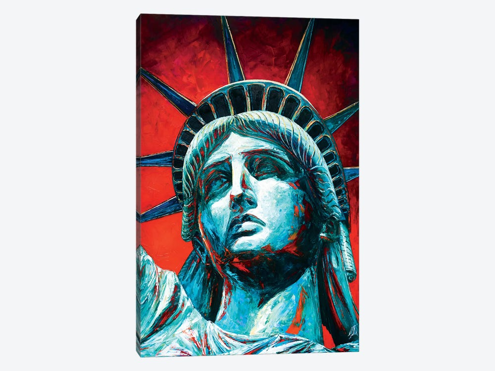 Statue Of Liberty Crown by Natasha Mylius 1-piece Canvas Art Print