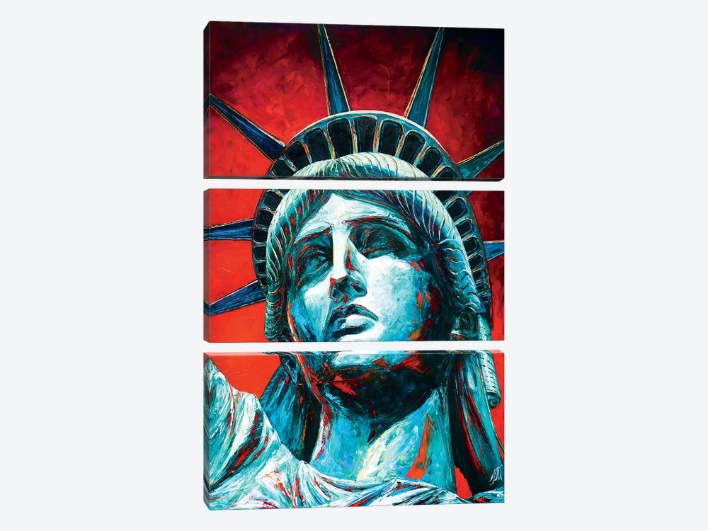 Statue Of Liberty Crown by Natasha Mylius 3-piece Canvas Print