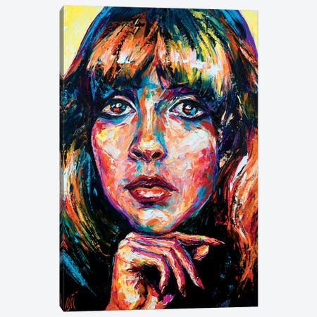 Stevie Nicks Canvas Print #NMY76} by Natasha Mylius Canvas Art