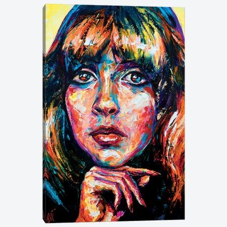 Stevie Nicks Canvas Print #NMY76} by Natasha Mylius Canvas Art