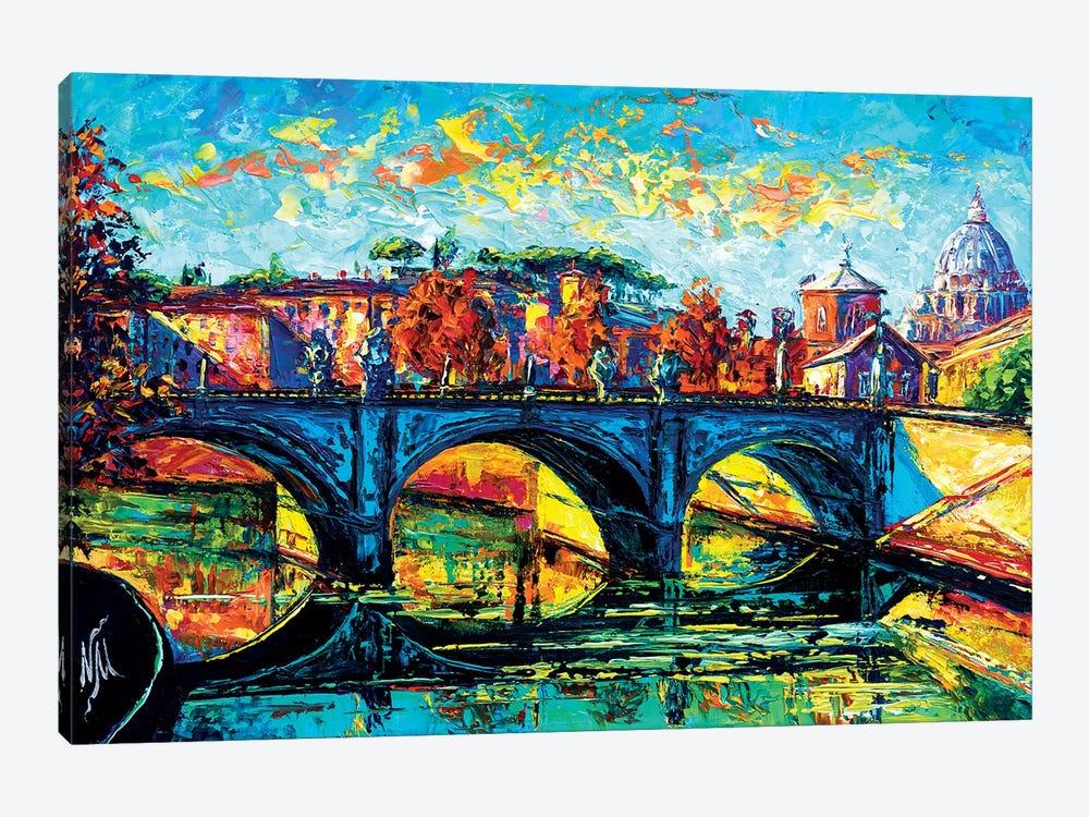 Vittorio Emanuele II Bridge, Rome by Natasha Mylius 1-piece Art Print