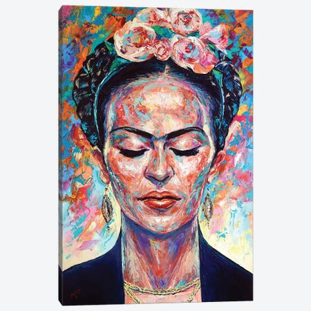 Frida Kahlo Canvas Print #NMY78} by Natasha Mylius Canvas Art Print