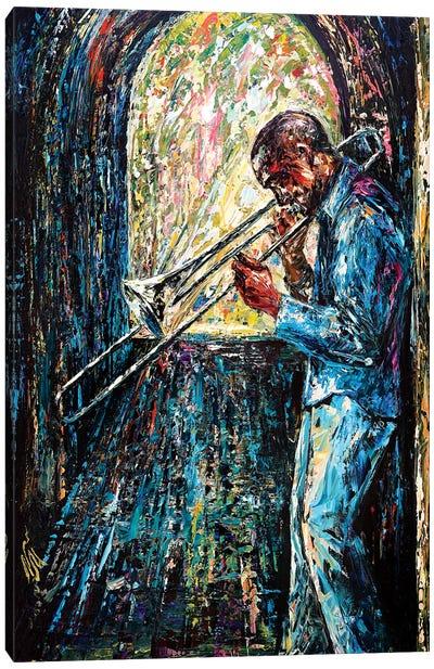 Bluesy Morning Canvas Art Print