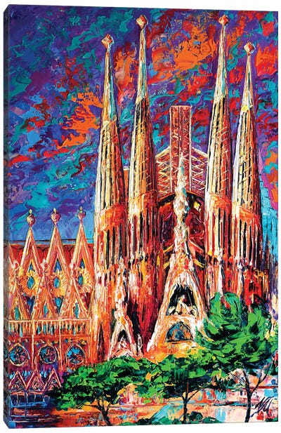 La Sagrada Familia Canvas Art Print