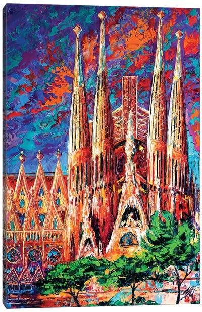 La Sagrada Familia Canvas Art Print