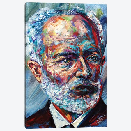 Pyotr Ilyich Tchaikovsky Canvas Print #NMY85} by Natasha Mylius Canvas Print