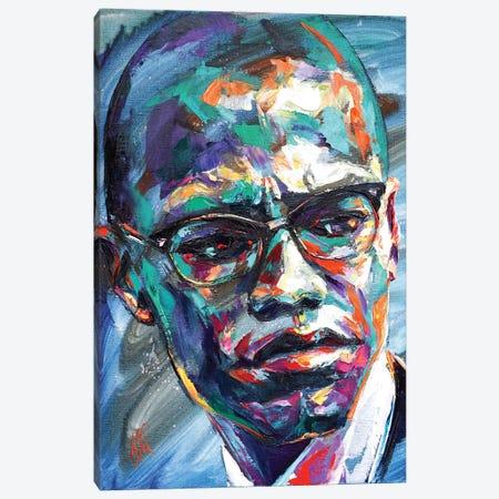 Malcolm X Canvas Print #NMY86} by Natasha Mylius Canvas Art Print