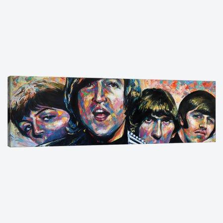 The Beatles Canvas Print #NMY88} by Natasha Mylius Canvas Wall Art