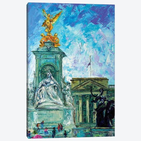 Buckingham Palace Canvas Print #NMY8} by Natasha Mylius Art Print