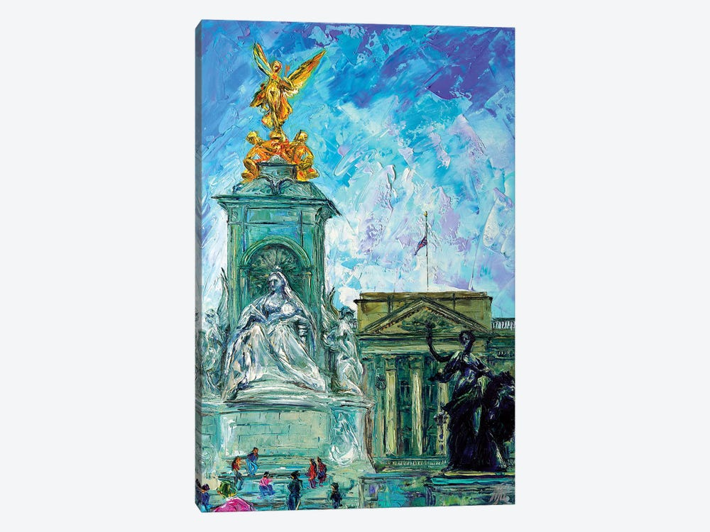 Buckingham Palace by Natasha Mylius 1-piece Canvas Wall Art