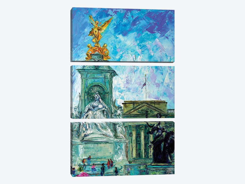 Buckingham Palace by Natasha Mylius 3-piece Canvas Art