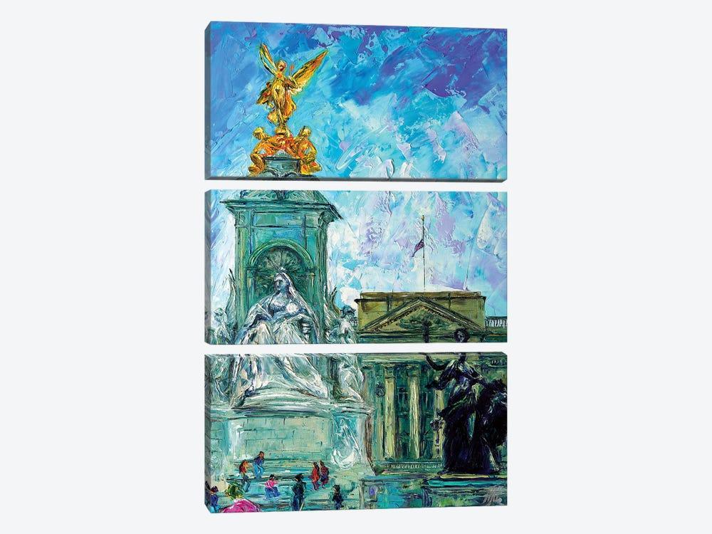 Buckingham Palace by Natasha Mylius 3-piece Canvas Art