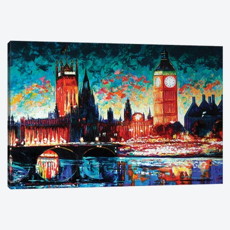 Big Ben And Houses Of Parliament Canvas Print #NMY90} by Natasha Mylius Art Print