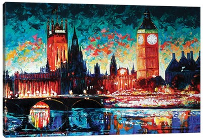 Big Ben And Houses Of Parliament Canvas Art Print