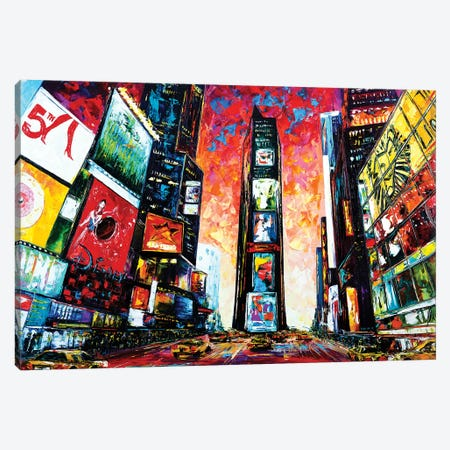 Times Square. The World Crossroads. Canvas Print #NMY91} by Natasha Mylius Canvas Print