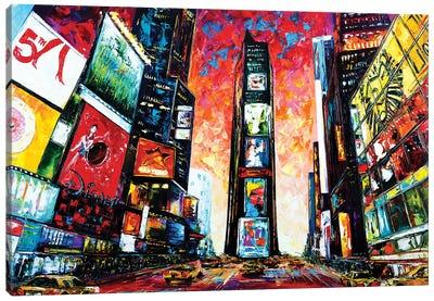 Times Square. The World Crossroads. Canvas Art Print
