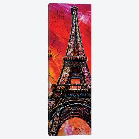 Eiffel Tower Canvas Print #NMY94} by Natasha Mylius Canvas Art