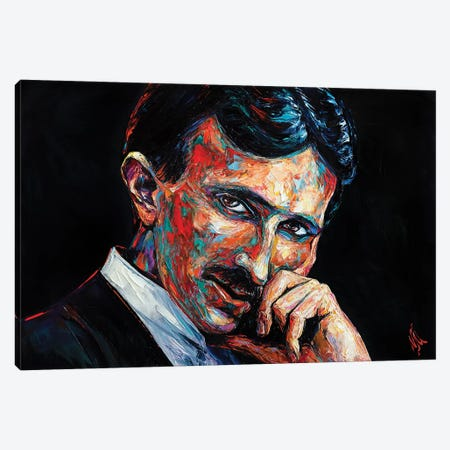 Nikola Tesla Canvas Print #NMY95} by Natasha Mylius Canvas Art