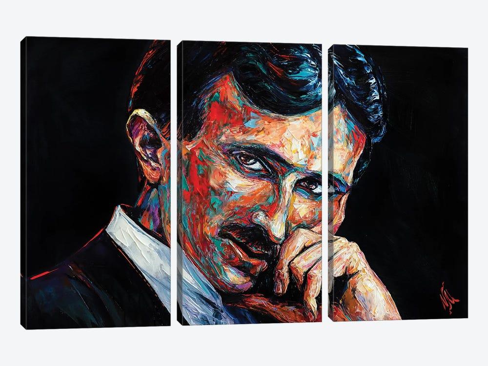 Nikola Tesla by Natasha Mylius 3-piece Art Print