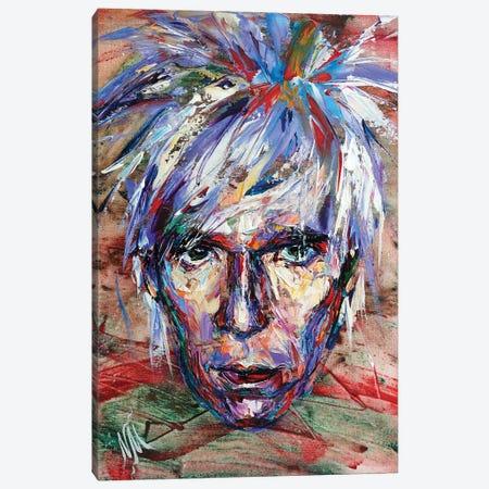Andy Warhol Canvas Print #NMY97} by Natasha Mylius Canvas Wall Art