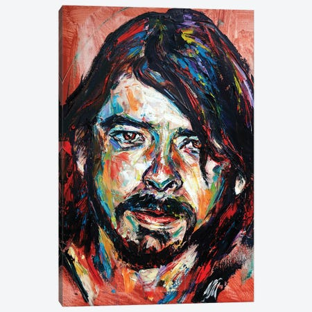 Dave Grohl Canvas Print #NMY98} by Natasha Mylius Canvas Art Print