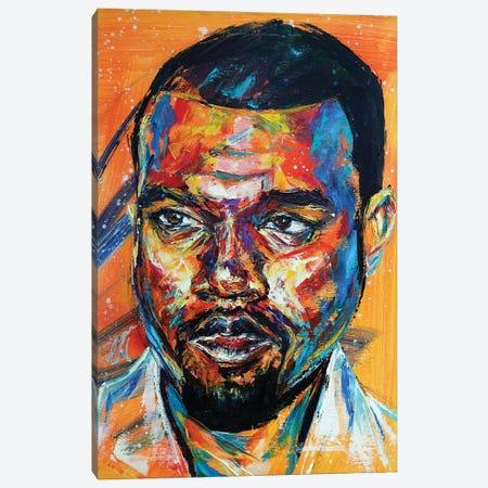 Kanye West Canvas Print #NMY99} by Natasha Mylius Art Print